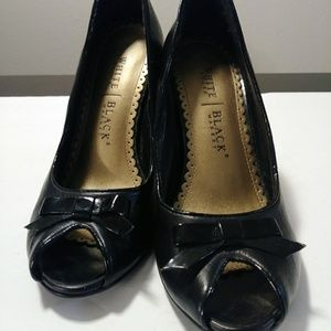 White House Black Market leather high heels
